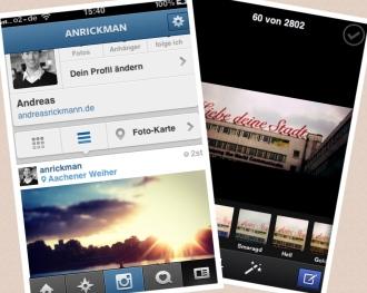 Instagram und Facebook App