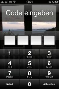 iPhone Code eingeben